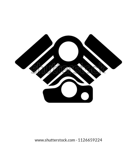 vector Car Engine illustration symbol. motor automotive power - vehicle automobile part
