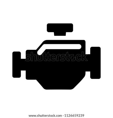 vector car engine illustration symbol - power sign, mechanic engineer