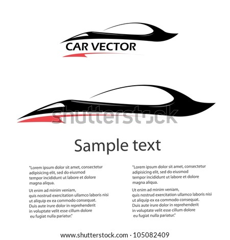 vector car icon fast racing automobile