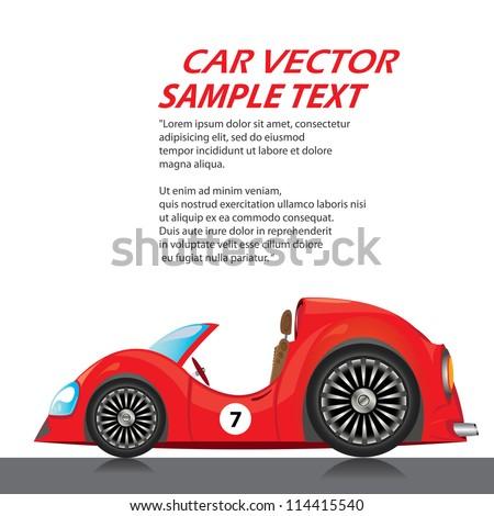 vector car icon. fast racing automobile.