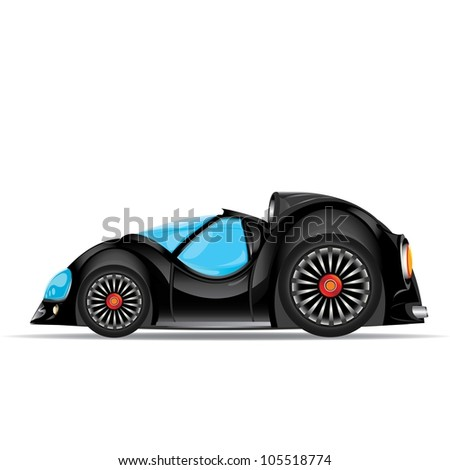 vector car icon. fast racing automobile. kids toy.