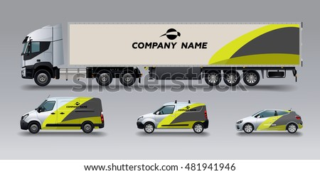 vector car identity template