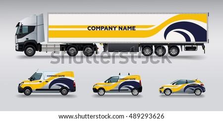 Vector car identity template design set. Branding mock up.
