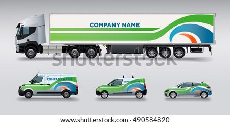 vector car identity template