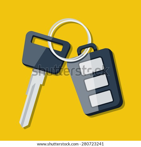 Vector Car Key and charm of the alarm system.