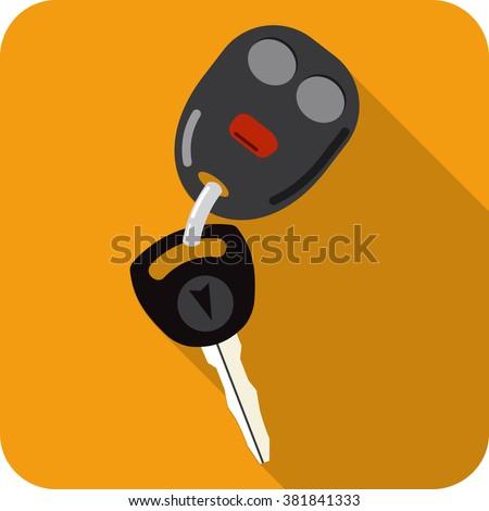 Vector Car Key and Key chain