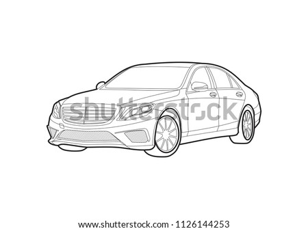 vector car layout for coloring