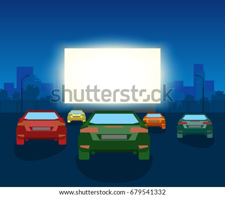 vector car open air cinema
