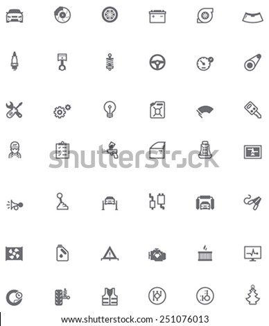 Vector car service and repair icon set