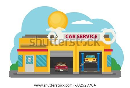 Vector Car Service flat.