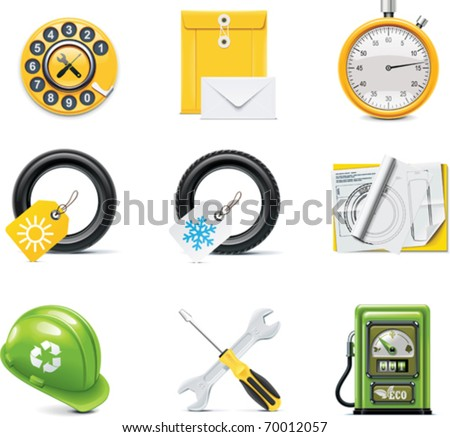 Vector car service icons