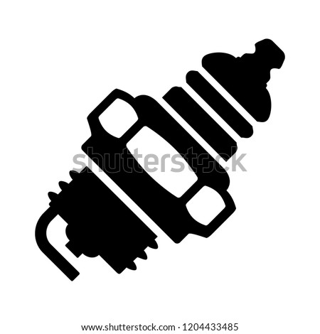 vector car spark plug illustration - spark plug symbol, car spark plug sign. power engine symbol