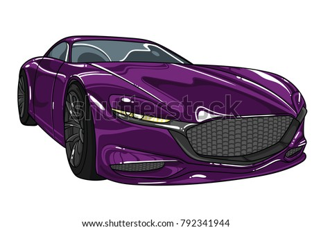 vector car  transparent on