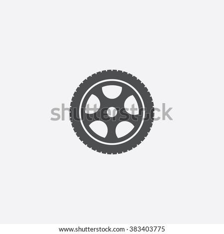 Vector car wheel Icon