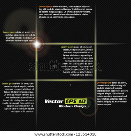 Vector carbon - green abstract brochure design