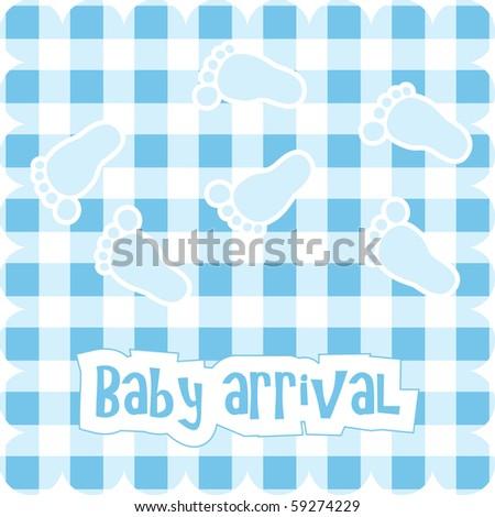 Vector card for baby boy