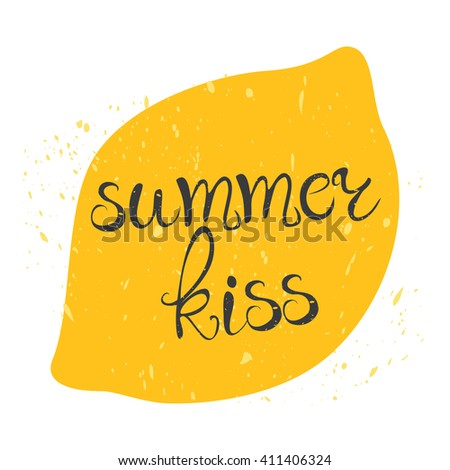 vector card summer kiss juicy