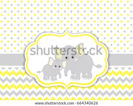 vector card template with cute