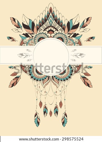 Vector card templates in boho style for for special events. Can be used as invitations, greeting cards, graphic designs, greeting banner.