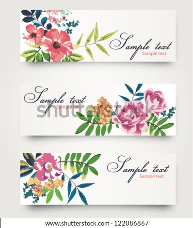 vector card with cute tropical flower,floral