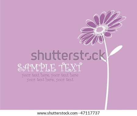 vector card with stylized flower