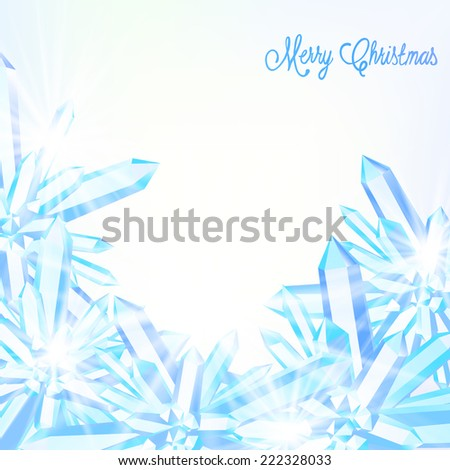 vector card with winter