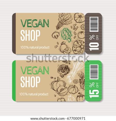 vector cardboard coupon set....