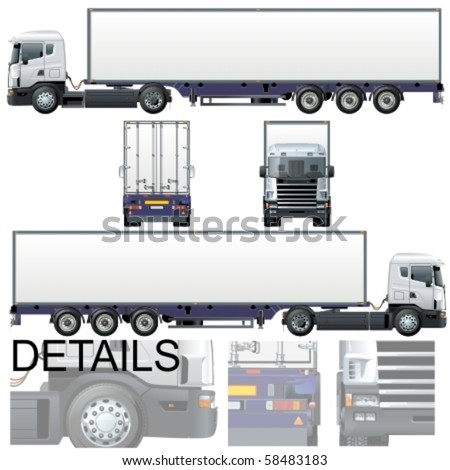 Vector cargo truck Original design