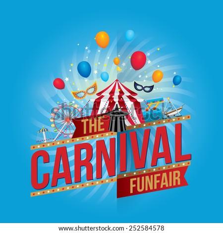 Vector carnival funfair design