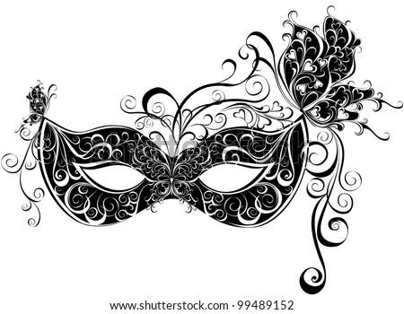 Vector carnival mask. Masks for a masquerade. Vector party mask.