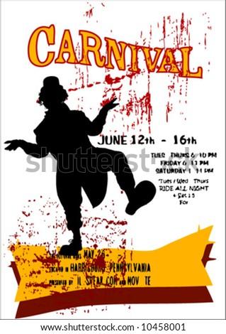 vector carnival poster