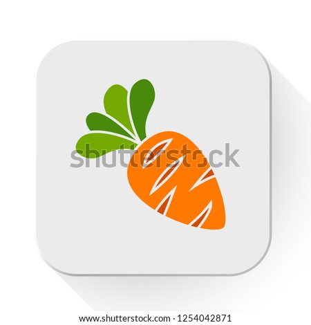 vector carrot vegetable icon. Flat illustration of carrot. bowling strike isolated on white background. healthy vegetable carrot sign symbol