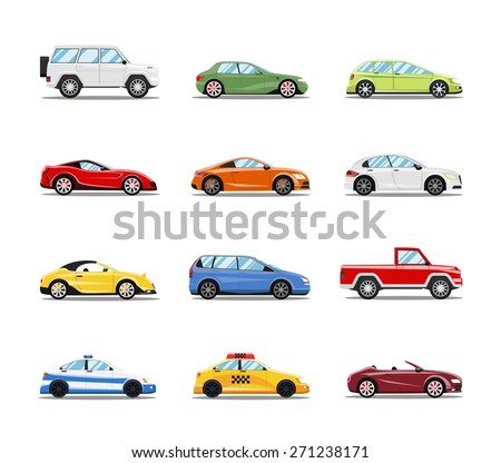 vector cars collection
