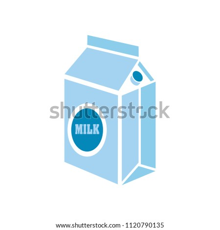 vector carton milk bottle illustration, drink symbol - healthy food, nutrition dairy