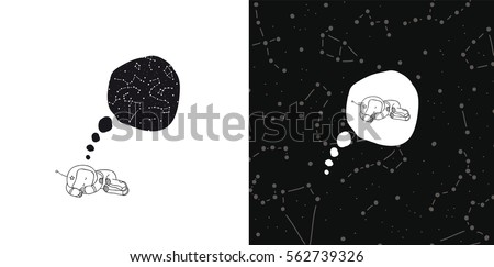 vector cartoon about dreaming