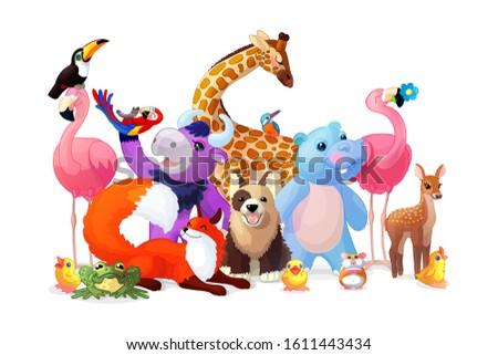 vector cartoon animal zoo