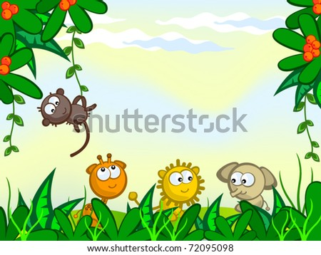 cartoon bush plant. stock vector : Vector cartoon