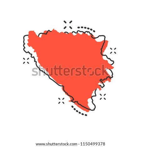 vector cartoon bosnia and