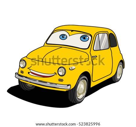vector cartoon car illustration