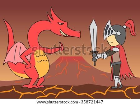 vector cartoon character dragon
