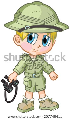 vector cartoon clip art of a