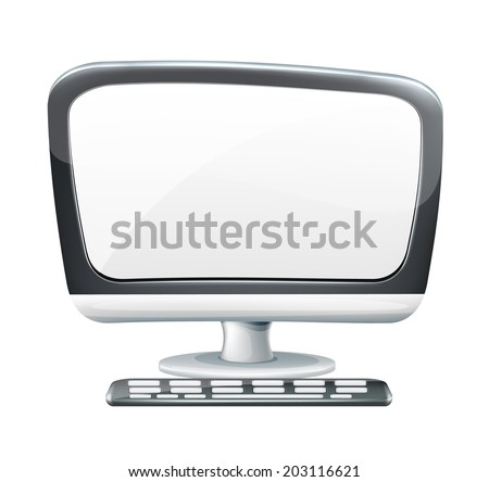 Vector Cartoon Computer