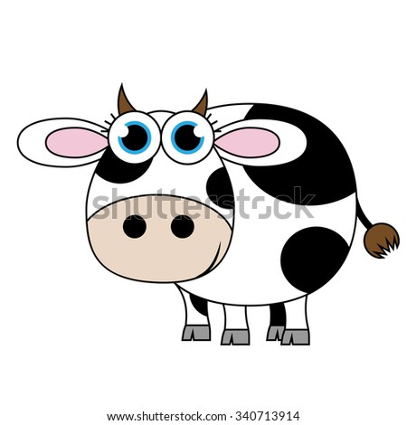 vector cartoon cow illustration