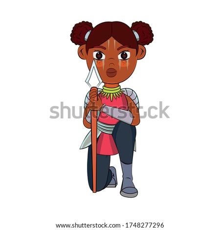 vector cartoon cute teen