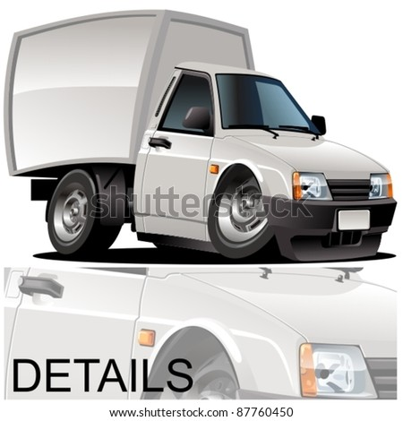 Vector cartoon delivery pickup - stock vector