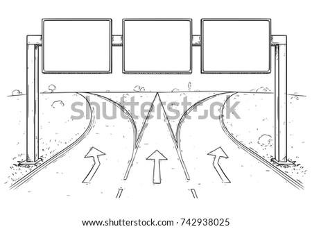 vector cartoon drawing of blank
