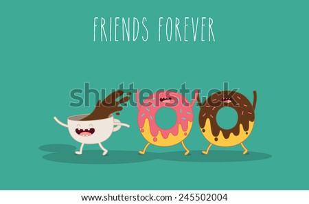 vector cartoon fast food