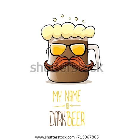 vector cartoon funky dark beer