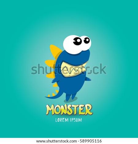 vector cartoon funny blue