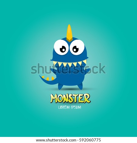 vector cartoon funny blue